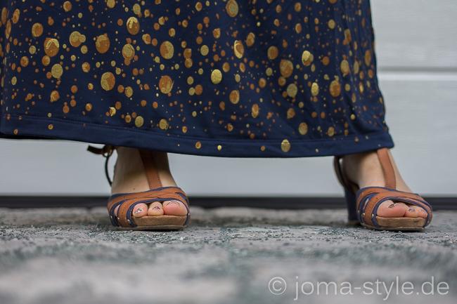 Abgeänderte Sommerliebe von Milchmonster aus dem Modaljersey Galaxia von Milchmonster für Lillestoff | Kleid | DIY | Maxikleid --> JOMA-style.de