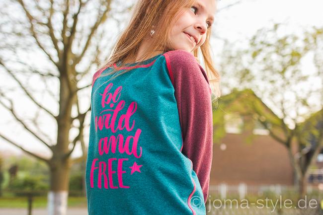 Plott: be WILD and free von Hamburger Liebe - Sweat: Miekkie - Schnitt: Herthas Nichte von Echt Knorke --> JOMA-style.de